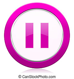 pause violet icon