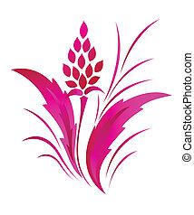 pauta flor, clásico, tatuaje