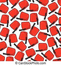 pauta fondo, con, rojo, fez