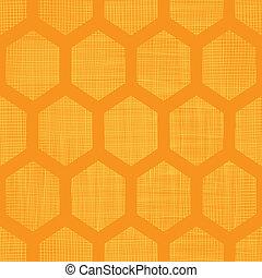 pauta tela, resumen, seamless, amarillo, miel, plano de...