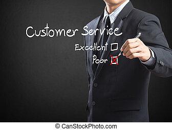 pauvre, service clientèle