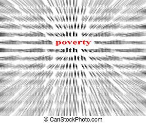 pauvreté, entre, richesse
