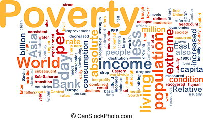 pauvreté, mot, nuage