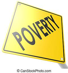 pauvreté, panneaux signalisations