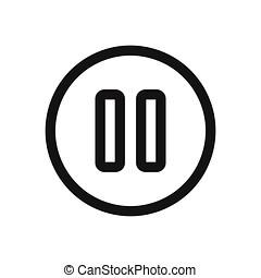 pauze, vector, illustratie, pictogram