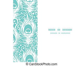 pavão, padrão, quadro, penas, seamless, vetorial, fundo, ...