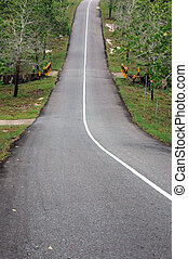 paved highway decline and uphill