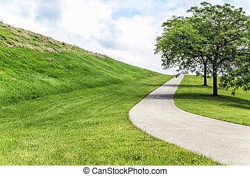 Paved Path up Hill