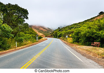 Paved road with a 35 mph speed limit going through Marin ...