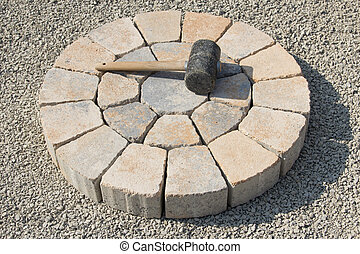 Paved stone circle