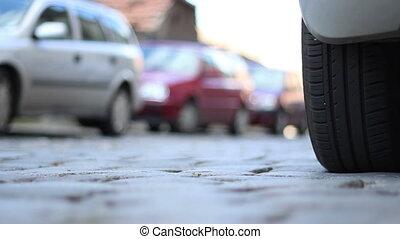 Paved Street Car Wheels