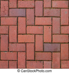 Pavement 6 - Red brick tiled pavement street texture