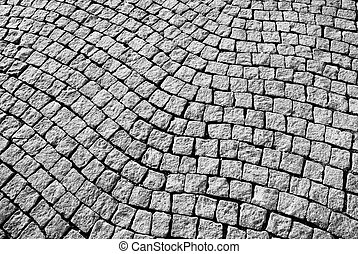 Pavement Floor Background in black and white