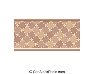 Pavement from the tile. View from above. Vector illustration.