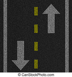 Pavement Illustration - a 2d illustration of an arrow on...