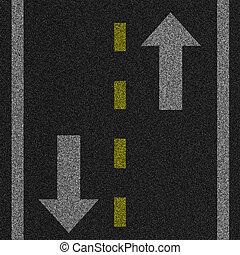 Pavement Illustration - a 2d illustration of an arrow on...
