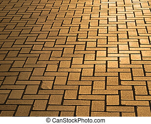 Pavement in dusk lighting - Detail of a urban street with...