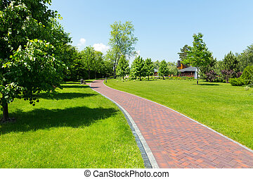 Pavement in the park