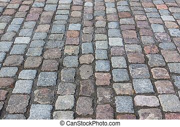 Pavement of granite