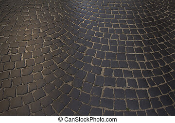 pavement of paving in Lviv