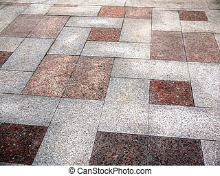 Pavement. - Photo pavement surface tiled with granite.