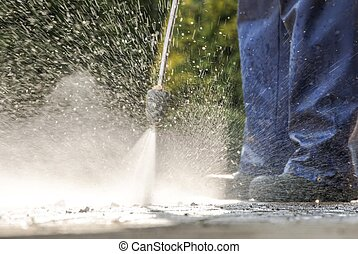 Pavement Power Cleaning