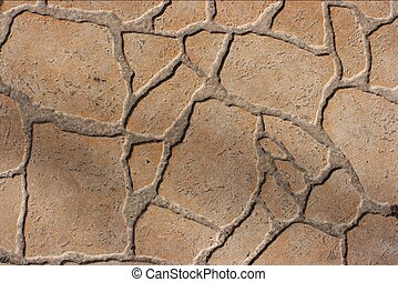 Pavement - Rough texture of pavement tiles