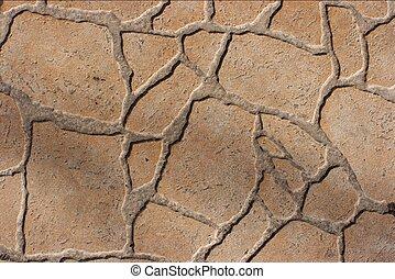 Pavement - Rough texture of pavement tiles