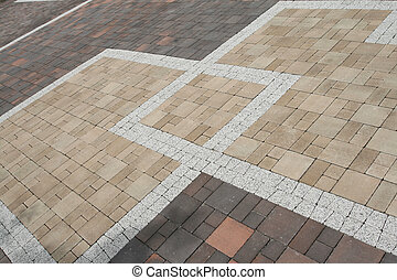 Pavement texture - Sett blocks background texture. Tiled,...