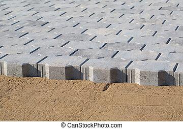 Paver bricks installing