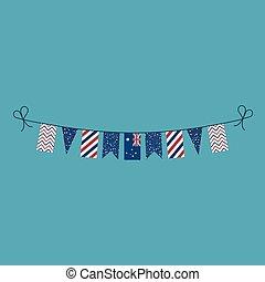 pavese, appartamento, australia, nazionale, bandiere, decorazioni, disegno, vacanza, giorno