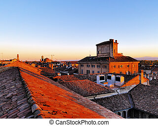 Pavia, Lombardy, Italy - Photo was taken during the autumn.