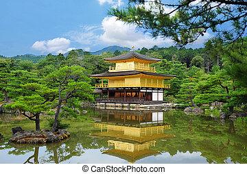 pavilhão dourado, templo