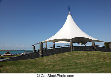 Pavilion at the corniche in Abu Dhabi, United Arab Emirates