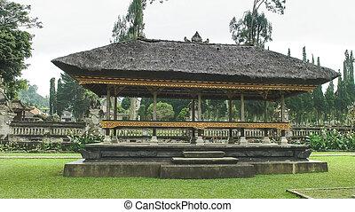pavilion at ulun danu bratan temple, bali