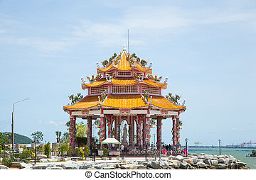 Pavilion by the sea.