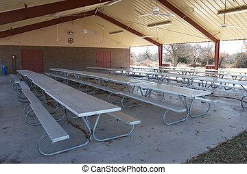 Covered pavilion