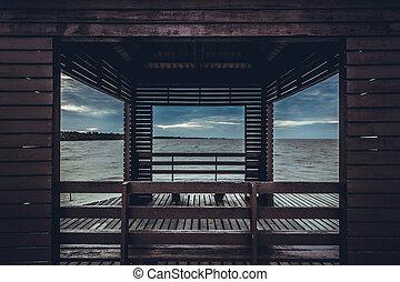 Pavilion frames tone dark for background