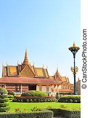 Pavilion in garden of Royal Palace, Phnom Penh, Cambodia