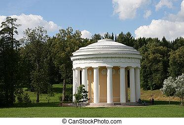 Pavilion in Pavlovsk Russia