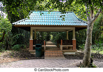 Pavilion in the park of Thailand.