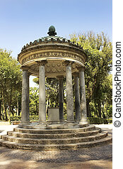 rotunda inside garden and park complex in Villa Borghese, Rome