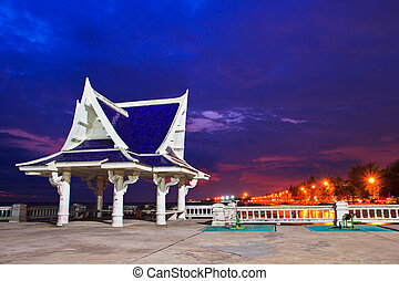 pavilion is located near the seaside,Thailand