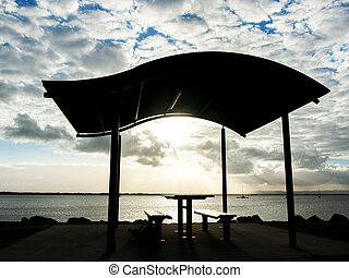 Pavilion near the beach