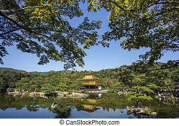 pavillion., 金, kyoto., kinkakuji, 日本