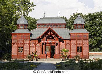 Pavillion in botanical garden