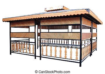 pavillon, jardin, orné