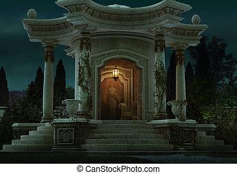 pavillon, römisches , cg, 3d