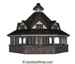 pavillon, -, render, 3d