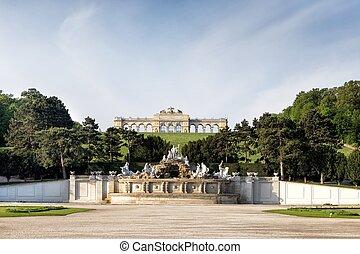 pavillon, schonbrunn palast, neptun, gloriette, brunnen, wien